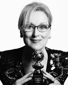 Meryl Streep 2017 Golden Globe Awards   Cecil B. DeMille Award   Photography by:  Mert Alas @goldenglobes