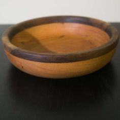 Wood turned Cherry and Walnut Bowl Perfect for by MadeByMillerCom