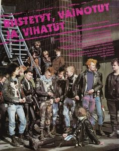 """stayfree70: """"Finland Punk 80s (Kaaos, Riistetyt, Bastards and Tempere SS) """""""