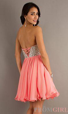 Short Prom Dress Style: BA-A12846 Back Image
