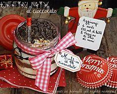 Muffin mix al cioccolato in barattolo, ricetta idea regalo