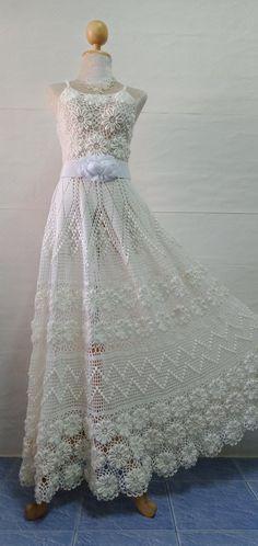Crochet Wedding Dresses, Crochet Fashion, Jacket Dress, Crochet Clothes, Pretty Dresses, Marie, Knit Crochet, Gowns, Knitting