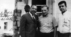 SCOPE volunteers Peter Geffen (right) and Moshe Shur with Dr. King, 1965