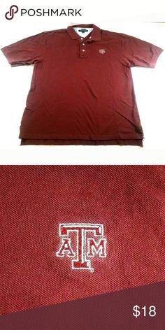 6c36ef7d Tommy Hilfiger Mens Texas Aggies Polo Shirt Tommy Hilfiger Mens Polo Shirt  Color Maroon Size