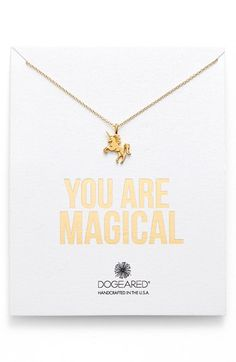 Dogeared 'You Are Magical' Magical Unicorn Pendant Necklace available at #Nordstrom