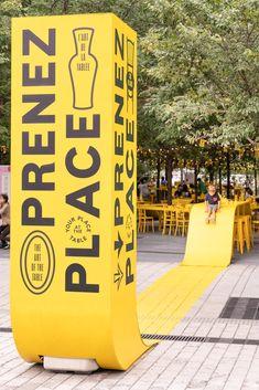 Montreal Architecture, Landscape Architecture, Landscape Design, Interior Architecture, Pantone, Rue Sainte Catherine, Montreal Ville, Artistic Installation, Luminous Colours