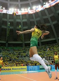 Sheilla Tavares de Castro, volleyball player from Brazil.