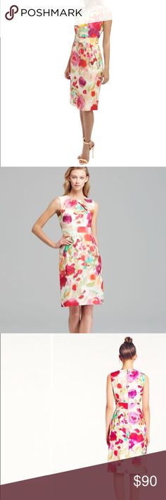 KATE SPADE~Colorful Giverny Floral BOWDEN Dress~4 Great condition..no issues. kate spade Dresses