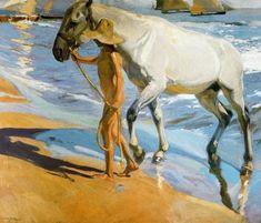 El baño del caballo (1909) Joaquín Sorolla