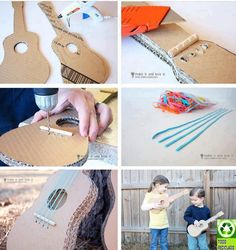 DIY: Crafted for Kids and Air Guitar Players. Can be decorated as desired.