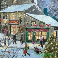 𝓘𝓽'𝓼 𝓪𝓵𝓵 𝓪𝓫𝓸𝓾𝓽 𝓒𝓱𝓻𝓲𝓼𝓽𝓶𝓪𝓼 🎅🏻🤶🏼  Old Time Christmas, Christmas Town, Christmas Scenes, Noel Christmas, Merry Little Christmas, Victorian Christmas, Vintage Christmas Cards, Christmas Pictures, Winter Christmas