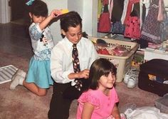 childhood and jake gyllenhaal image Maggie Gyllenhaal, Celebrity Siblings, Ang Lee, Donnie Darko, Cute Family, Reaction Pictures, Actors & Actresses, Hollywood, Frases
