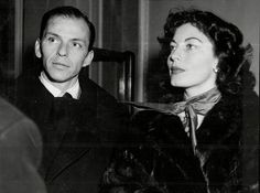 Ava Gardner, pictured here with her husband, Frank Sinatra, was one of the actresses who worked in the Eternal City