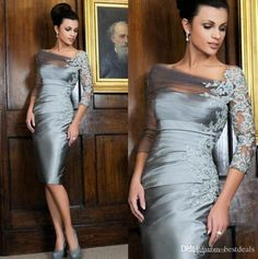 Never miss the chance to get the best mother of the bride petite dresses,navy blue mother of the bride dressesand plus size mother of the bride dresses uk on DHgate.com. The cheap sheer lace appliqued sheath mother of the bride gowns 2016 bateau 3/4 sleeves cocktail dresses formal knee length taffeta mother dresses is for sale in bestdeals and buy it now!