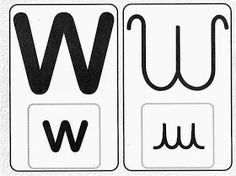 Pedagógiccos: Alfabeto - letra cursiva e caixa alta Logos, Gabriel, Abc Centers, Writing Assignments, Upper And Lowercase Letters, Writing Words, Alphabet Letters, Lower Case Letters, Letter W
