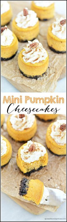 Mini Pumpkin Cheesecakes - A Pumpkin And A Princess