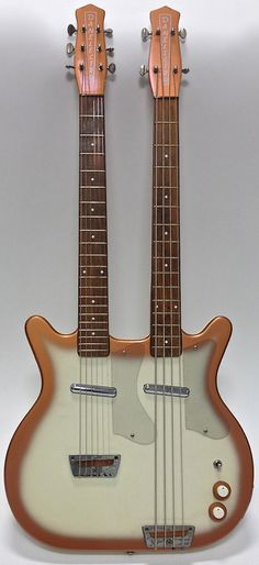 Original Danelectro Guitar Bass Double Neck --- https://www.pinterest.com/lardyfatboy/