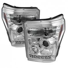 Ford Super Duty [Ccfl Halo] Osram LED DRL Daytime Running Lights Front Projector Headlights Headlamps Replacements Both Driver Passenger Sides Left Right Pair Set w/ 9006 Low Beam High Beam Bulbs 2012 2013 2014 2015 11 12 13 14 15 16 Chrome Maserati, Bugatti, Lamborghini, Projector Headlights, Car Headlights, Led Projector, Led Tail Lights, Car Lights, Car Ford