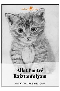 Állat Portré Rajztanfolyamon megmutatunk minden trükköt amivel cuki állítokat lehet rajzolni.Kattints Minden, Movies, Movie Posters, Animals, Art, Art Background, Animales, Films, Animaux