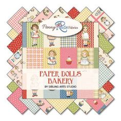Paper Doll Bakery Collection - Riley Blake - 1/2 yds and panels- YOUR CHOICE #RileyBlakeDesigns