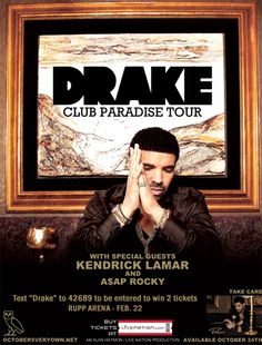 Text DRAKE to 42689 for your chance to win 2 tickets to See Drake at Rupp on Feb. 22
