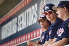 (from Left) Jaden Henline, Cole Wagner and Kaden Piefer watching batting practice.  It was Red Land Little League day at the Harrisburg Senators, Red Land celebrated it's season, had batting practice and signed autographs at the Senators game against Akron on Sunday, September 6, 2015.  Daniel Zampogna, PennLive