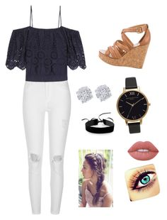 """""""Untitled #249"""" by bscottolavino ❤ liked on Polyvore featuring River Island, Ganni, Tory Burch, Effy Jewelry, Olivia Burton, Simons and Lime Crime"""