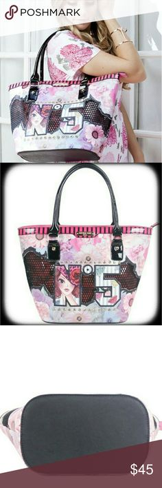 """Nicole Lee """"No. 5"""" Tote Bag Authentic Nicole Lee bag made of vegan leather with satan lining Nicole Lee Bags Totes"""