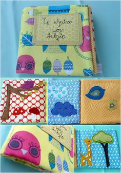 Baby's first fabric book/ baby's quiet book/soft book by nenimav