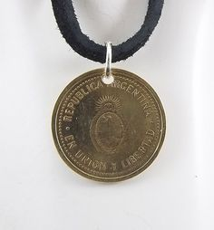 Small Argentina Coin Necklace 10 Centavos by AutumnWindsJewelry