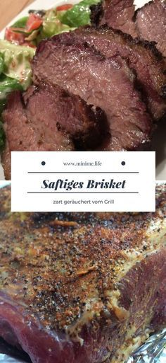 Saftiges Brisket vom Kugelgrill - My list of the most healthy food recipes Grilled Brisket, Bbq Brisket, Smoked Beef Brisket, Smoked Pork, Roast Beef Recipes, Grilling Recipes, Healthy Eating Tips, Pork Ribs, Side Recipes