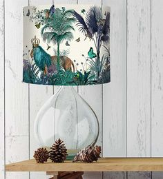 Tropical Lions Lampshade, Blue by FabFunky Home Decor, the perfect gift for Explore more unique gifts in our curated marketplace. Blue Room Decor, Blue Rooms, Blue Lamp Shade, Lamp Shades, Tropical Colors, Tropical Decor, Bubble Tree, Tropical Furniture, Drum Room