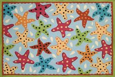 Sensational Starfish Patio Rug