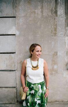 palm leaf print skirt 5