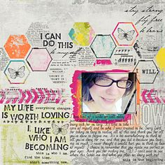 Tutorials by Sweet Shoppe Designs » using a template to create an art journal layout