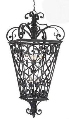 8 Light Chain Lantern Reminiscent of the iron details often seen of the most-loved areas of New Orleans, this historic design is made of cast aluminium that casts a warm glow to welcome visitors to your doorstep. Outdoor Ceiling Lights, Outdoor Hanging Lanterns, Outdoor Chandelier, Outdoor Lighting, Ceiling Lighting, Lustre Metal, Lantern Pendant Lighting, Pendant Chandelier, Traditional Lanterns