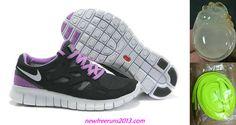 New Nike Free Runs 2 Womens Black Purple White Shoes