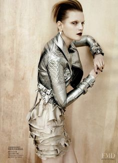 Full Metal Glamour in Vogue China with Guinevere van Seenus wearing Tom Binns,Burberry Prorsum - Fashion Editorial | Magazines | The FMD #lovefmd