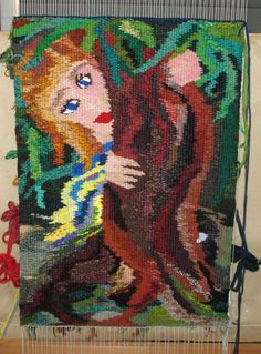 Wall Hanging Woven Tapestry - Hug a Tree. $450,00, via Etsy.