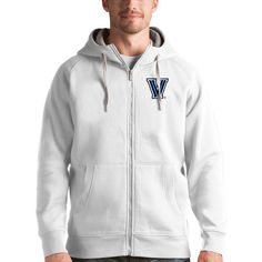 Villanova Wildcats Antigua Victory Full-Zip Hoodie - White