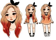 me and some nerds are making a kpop girl group and this is the maknae tbh i promise i'll draw something other than headshots one day-