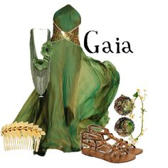 Gaia was the goddess of the earth in Greek mythology. She came out of Chaos. She was the great mother of all, and grandmother of Zeus.