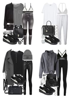 """fenty"" by florencia95 ❤ liked on Polyvore featuring H&M, T By Alexander Wang, Sloane & Tate, Proenza Schouler, Yves Saint Laurent, Simply Vera, Alexander Wang, J Brand, Topshop and Acne Studios"