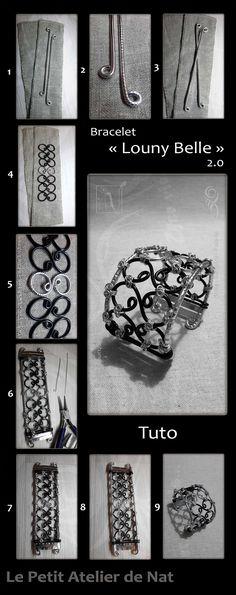 TUTO BRACELET FIL ALUMINIUM | Sur la base de travail du bracelet « Louny Belle » 2.0 - Niveau Difficile,  adulte/adolescente. Travail du fil aluminium :  dextérité, patience, force mais aussi minutie, indépendance motrice entre les mains/doigts des deux mains, et une gestion des tâches avancées.