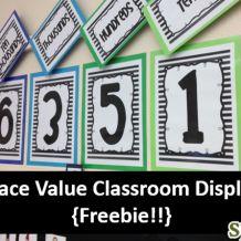 Classroom Place Value Display {FREEBIE!!}