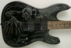 custom guitars Items similar to Custom Painted Electric Guitar, Dean Vendetta Select, Customized, Playable art by JaLWorks on Etsy Custom Painted Electric Guitar Dean V Guitar Painting, Guitar Art, Cool Guitar, Guitar Chords, Beginner Electric Guitar, Cool Electric Guitars, Bass, Gretsch, Siper Man