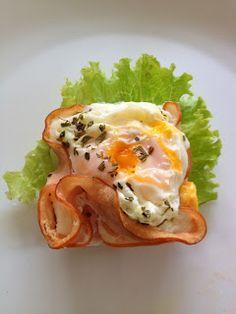 INGREDIENTES:   2 fatias de peito de peru, pode substituir por chester ou presunto de peru   1 ovo   Uma pitada de sal e orégano  ...
