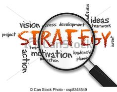 Stock Photo - Magnifying Glass - Strategy - stock image, images, royalty free photo, stock photos, stock photograph, stock photographs, picture, pictures, graphic, graphics