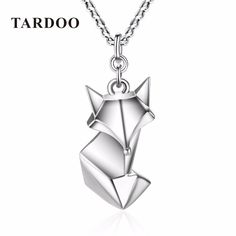 TARDOO Trendy Cute Fox Pendants Necklace for Women 925 Sterling-Silver Love  Necklace Fine Jewelry 2017 New Year Gifts fc6fc717f4feb