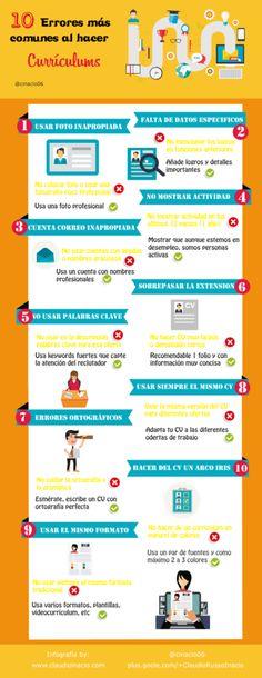 infografia con errores mas comunes al crear curriculums